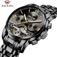 Ailang relógios masculinos marca de topo luxo automático relógio mecânico masculino à prova dwaterproof água aço completo relógio de negócios relogio masculino|Relógios mecânicos| |  -