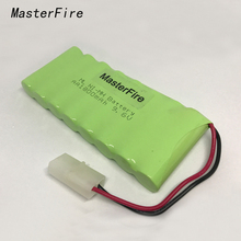 MasterFire 5PACK/LOT New AA Ni-MH 9.6V 1800mAh Ni MH Battery Rechargeable Batteries Pack With two wires Plugs Free Shipping