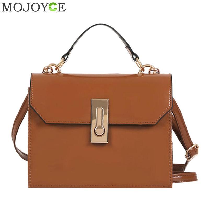 Simple Patent Vinatge PU Leather Women MIni Square Messenger Female Fashion Shoulder Bags PU Leather Women Crossbody Bag Handbag