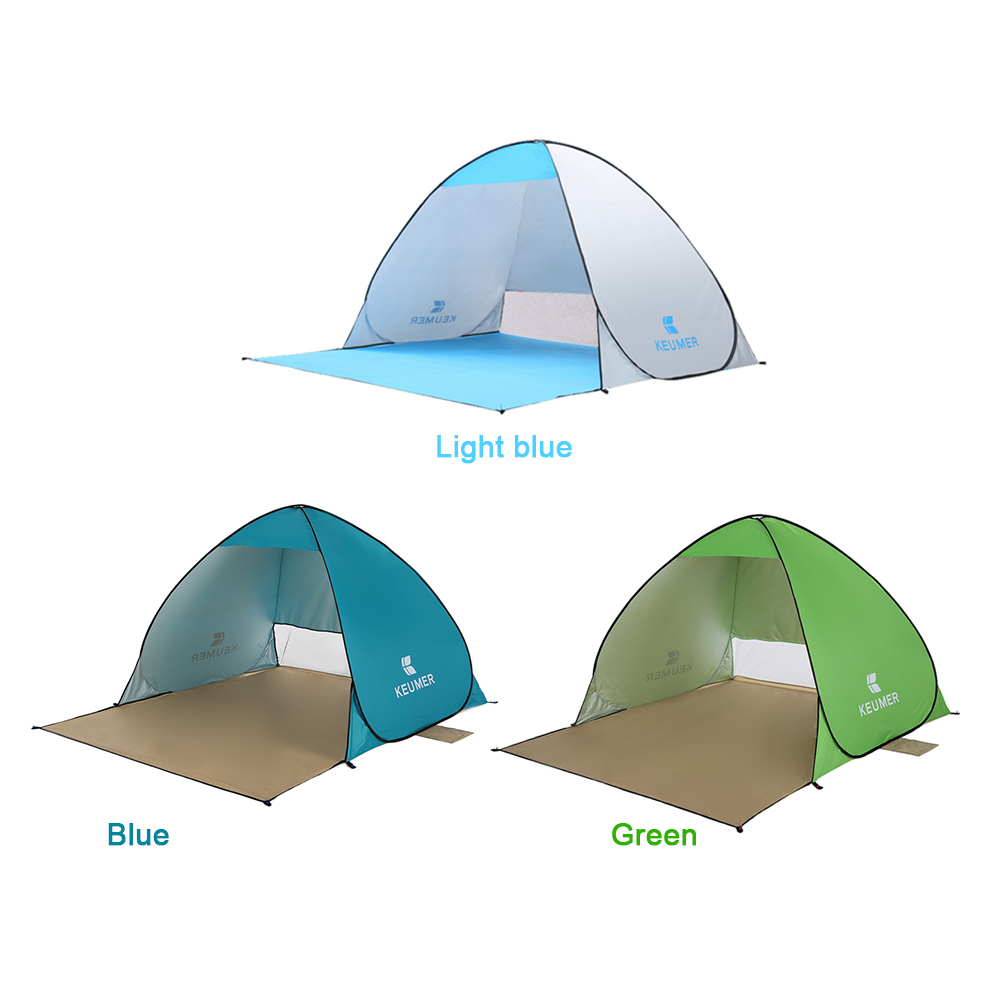 Automatic Camping Tent Ship From RU Beach Tent 2 Persons Tent Instant Pop Up Open Anti UV Awning Tents Outdoor Sunshelter 1