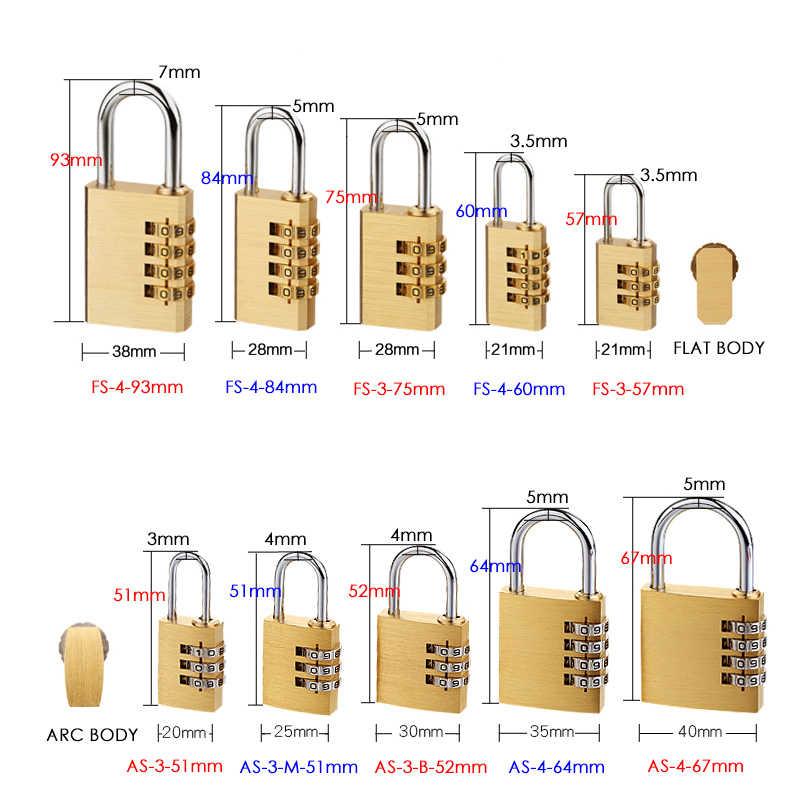 KAK Solid Brass Copper Security Padlock Password Combination Code Lock for Gym Digital Locker Suitcase Drawer Lock Hardware