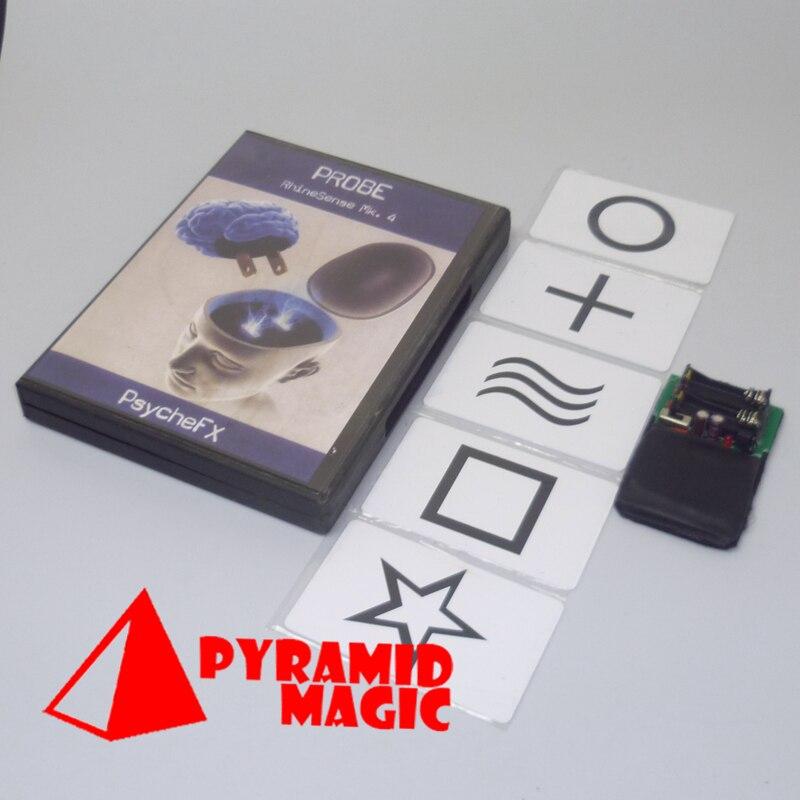 Livraison Gratuite! Sonde Rhinesense mc. 4 (ESP carte version + DVD), carte magique, gimmick, accessoires mentalisme, tour de magie, haute qualité