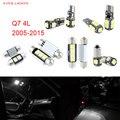 16 unids 4L LED Canbus Luces Interiores Paquete Kit Para Audi Q7 (2005-2015)