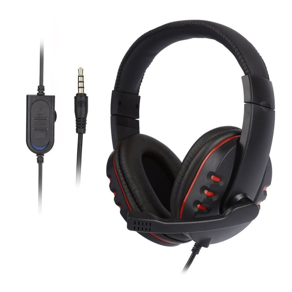 Cheap Universal Laptop PC Computer Headphone Stereo Music Gaming Headband Headset With Microphone Mic Earphone 3.5mm Jack Wired image