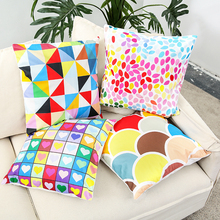 Fashion 45*45cm Colorful Cotton Linen Nordic Geometry Bohemia Square Decorative Throw Pillow Case Cushion Cover Sofa Home Decor