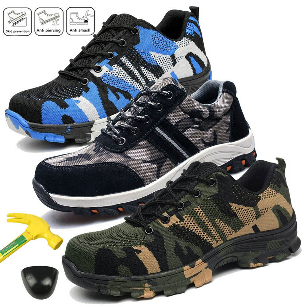 Men/'s Military Indestructible Bulletproof Safety Work Shoes Wide Steel Toe Boots