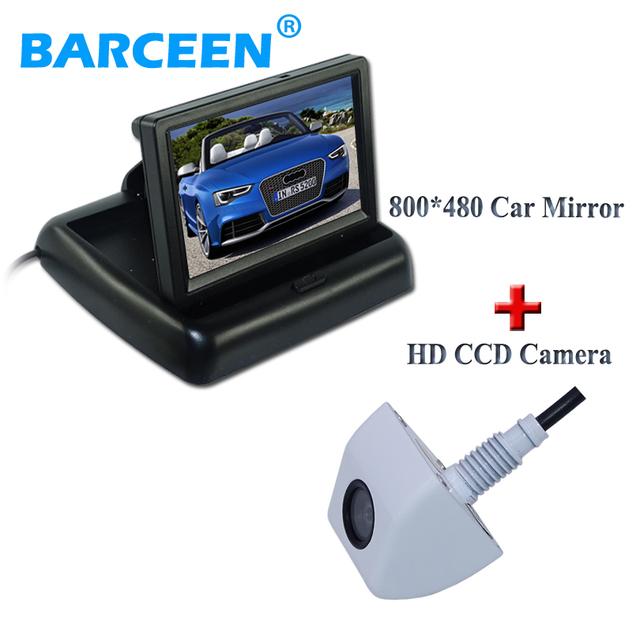 12 V Universal Kit de 4.3 Pulgadas de visión trasera cámara de Aparcamiento monitor + Visión Nocturna de 170 Grados Del Coche Del CCD de Visión Trasera cámara