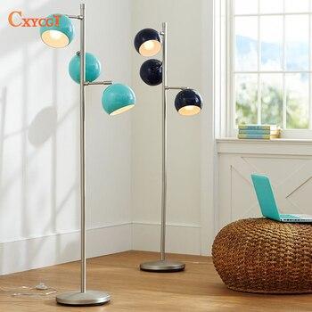 Lámpara de pie LED post-moderna nórdica iluminación interior para sala de estar iluminación de balcón lámpara E27 luces decorativas