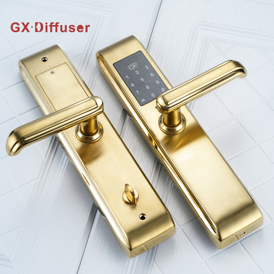 GX Diffuser Door Electronic Lock Stainless Steel Home Hotel Smart Locks Digital Credit Card Password Exterior Anti-theft Gate digital electric best rfid hotel electronic door lock for flat apartment