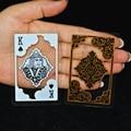 54pcs/set waterproof transparent pvc poker plastic playing card