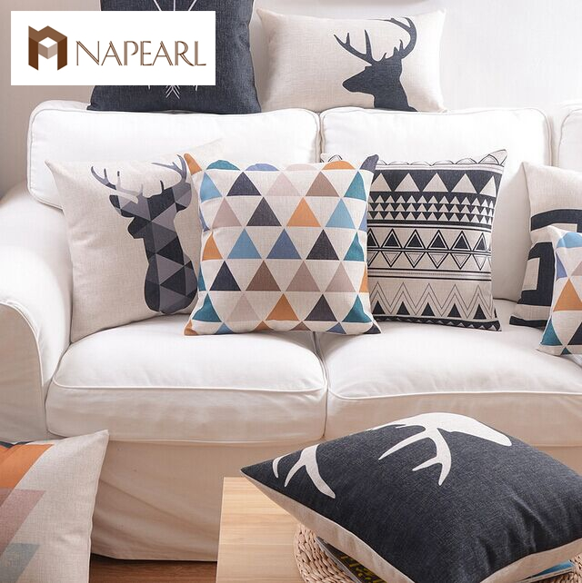 nordic style geometry pillow brief sofa fluid cushion throw decorative pillows bed car sushionchina - Decorative Pillows For Bed