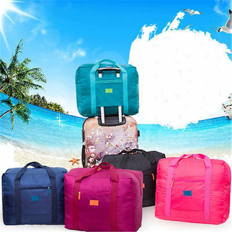 ผู้หญิงผู้ชาย Unisex Travel กระเป๋าไนลอนกันน้ำกีฬาฟิตเนสกระเป๋าถือกระเป๋า Tote