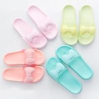 Cute Bow 2018 Women Slides Candy Colors Slippers Summer Platform Sandals Black White Women Shoes Flip