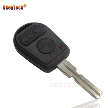 OkeyTech New 3 Button Uncut Blade Remote Replacement Key Shell Cover Case For BMW E31 E32 E34 E36 E38 E39 E46 Z3 Z4 Auto Key Fob image