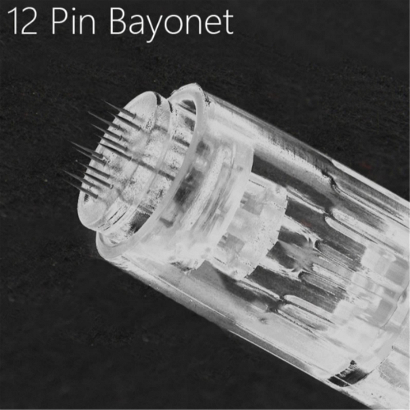 10pcs 12Pin Needle Derma Pen Bayonet Cartridge Needles For Electric Auto Microneedle Derma Pen Nano MYM Needles Tip