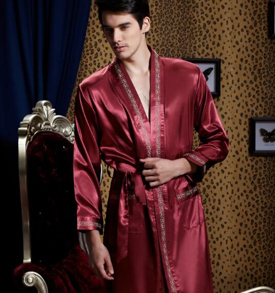 Popular mens silk kimono buy cheap mens silk kimono lots from china mens silk - Peignoir homme descamps ...
