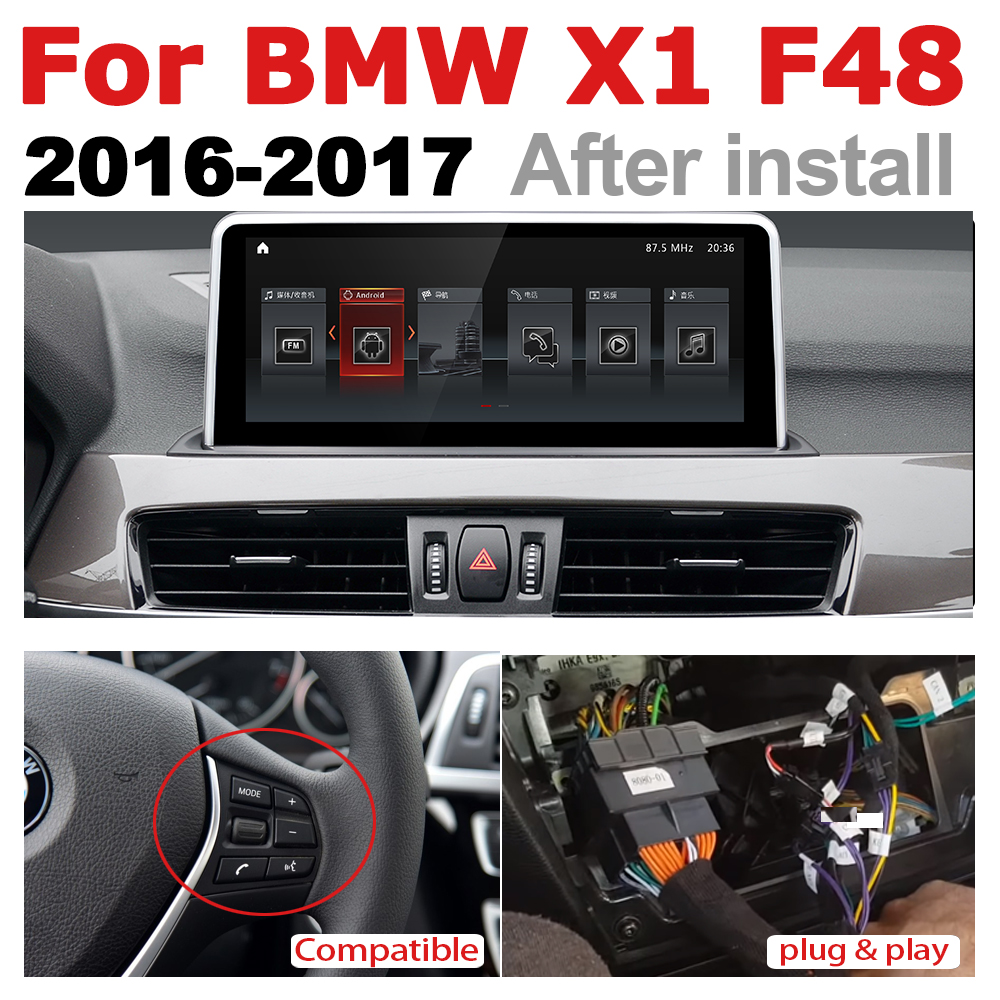 Android 7.0 up Car Multimedia player For BMW X1 F48 2016~2017 WiFi GPS Navi Map Stereo Bluetooth 1080p IPS Screen2