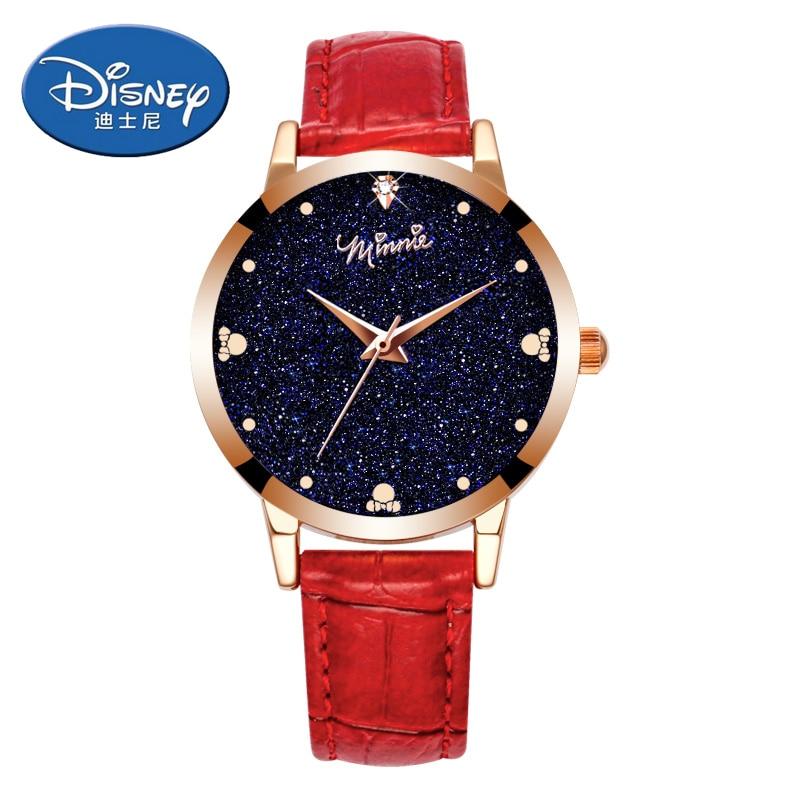 Us 3195 10 Offdisney Uhr Fashion Und Casual Women Uhren Quarz Armbanduhren Mädchen Uhr Geschenk Leder Uhr In Damenuhren Aus Uhren Bei Aliexpress