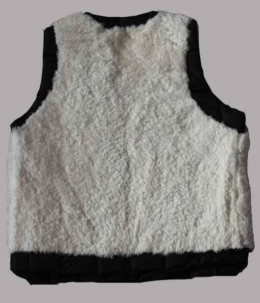 Натуральный мех мужской жилет термальность мужская одежда пояса из натуральной кожи лайнер шерсть овчины черный берберский флис