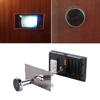 Digital Door Viewer Doorbell Security Camera Electronic Cat Eye 3.5 LCD