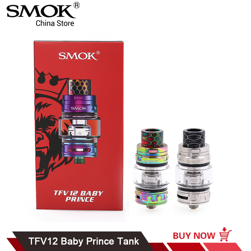 Original SMOK TFV12 Baby Prince Tank V8 Baby-T12 Baby Mesh Coil Electronic Cigarette Atomizer 510 Thread TFV12 Baby Prince vapesoon b1 subohm tank atomizer 6ml 510 thread 0 4ohm q2 coil atomizer tank vs tfv8 baby tfv12 top filling 22mm