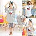 Set amamentação Tops roupas para alimentação de verão Plus Size Top t-shirt de maternidade Leggings maternidade