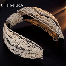 White Lace Twisted Knotted Women Headband Hair Hoop Head Wrap Fashion Wide Hair Head Band Headpiece Hair Accessories 3160236