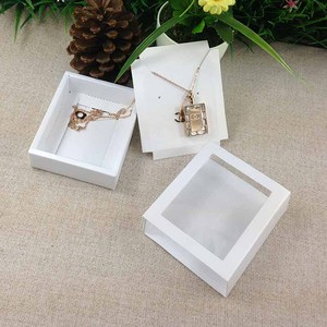 Image 4 - Necklace Card Window Box white 1Lot =50box +50 pcs inner Card Pearl White Necklace Box Gifg BOX Pendent Box / Earring Case