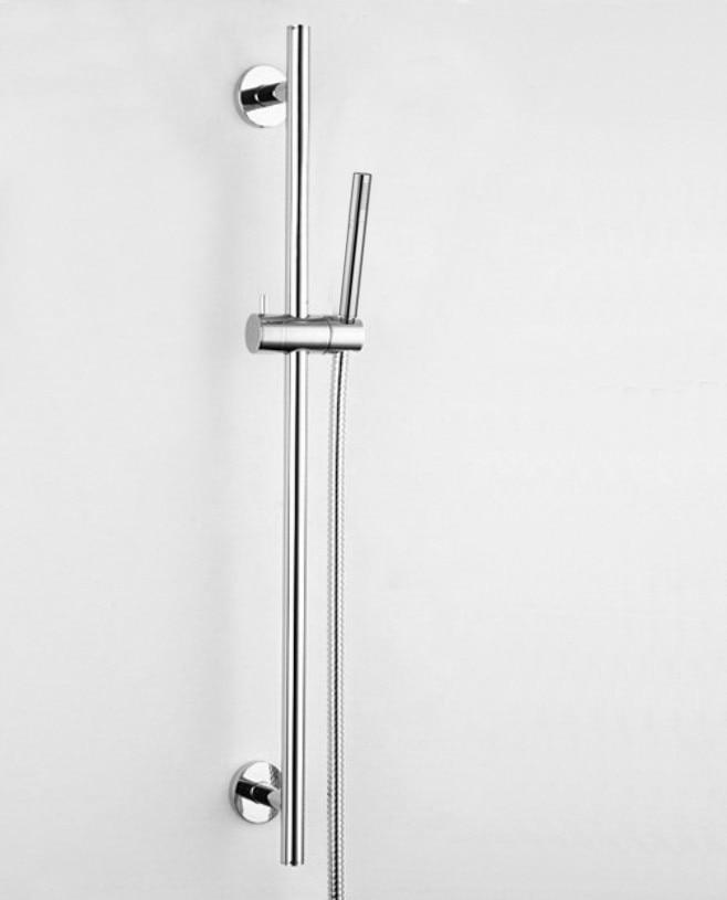 free shipping copper shower sliding bar with brass shower stainless steel shower pipe bathroom sliding bar