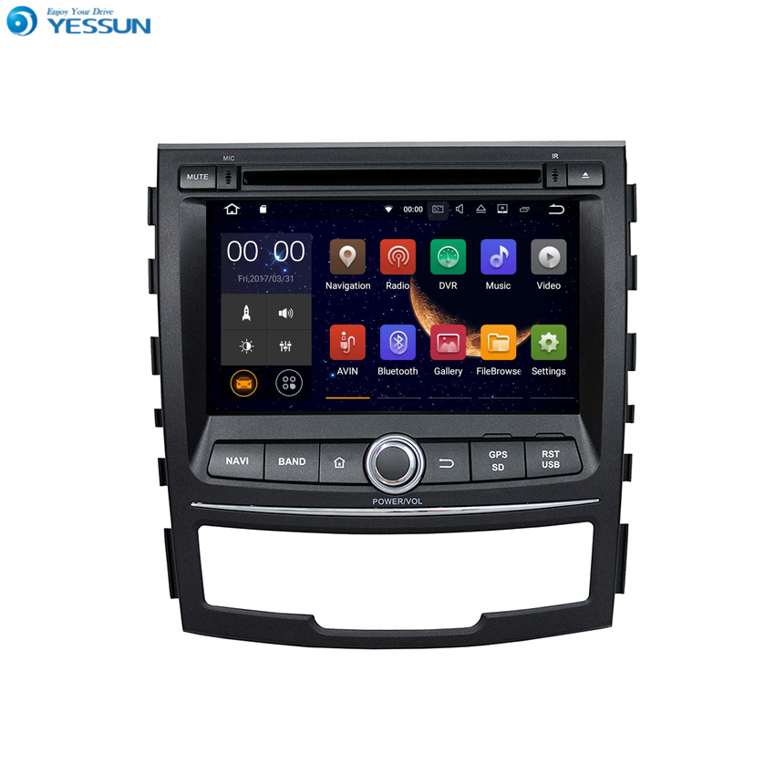 YESSUN Android Radio Car DVD Player For Ssangyong Korando 2010~2013 Stereo Radio Multimedia GPS Navigation With AM/FM image