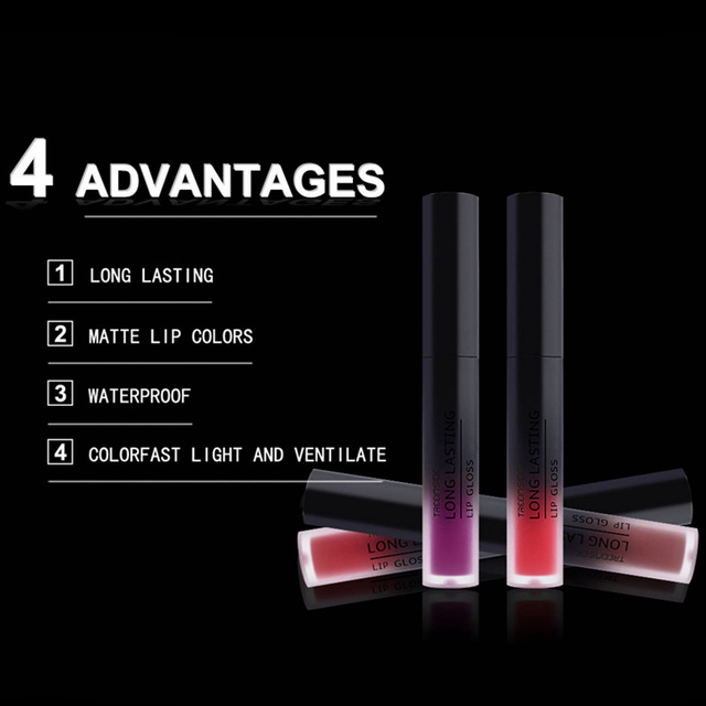 24 Color Liquid Lipstick Matte Makeup Waterproof Red Lip Long Lasting Gloss Mate Black Lip Stick Matte Liquid Lipsticks 3