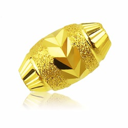 Pure 999 24k Solid Yellow Gold Pendant/ New Design Sand Bead Pendant 0.3-0.6g