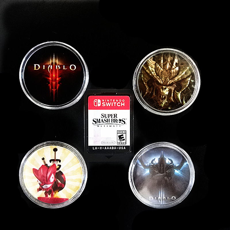 2Pcs Diablo 3 NFC Game Card Collection Coin Tag Ntag215 Sticker Of Amiibo NS/Switch New Data Seting Elite Territory Loot Goblin