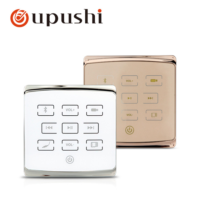Oupushi A1 Gold Color In Wall Amplifier Ceiling Speaker Audio System Bluetooths Remote Control USD Card TF Card For Home