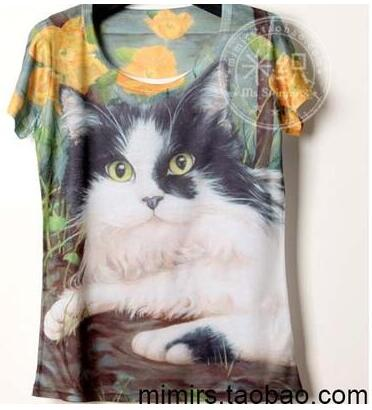a9bbc5e74 Lazy Cat 3D print Children's clothes baby short sleeve T shirt printing cartoon  boy and girl