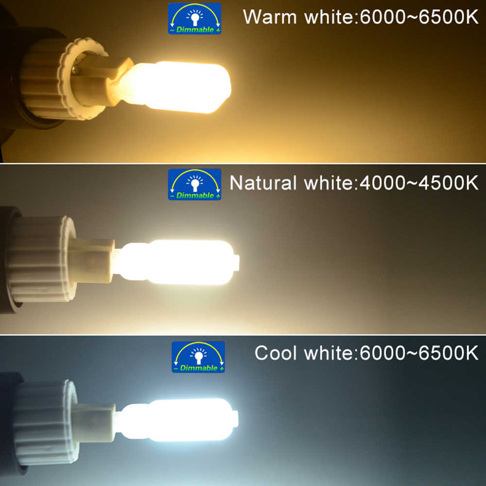 5W 7W 9W Dimmable G9 LED Light Bulb High Lumen SMD 2835 Diode Chip Flicker-Free 14 22 32 LEDs Chandelier Lamp