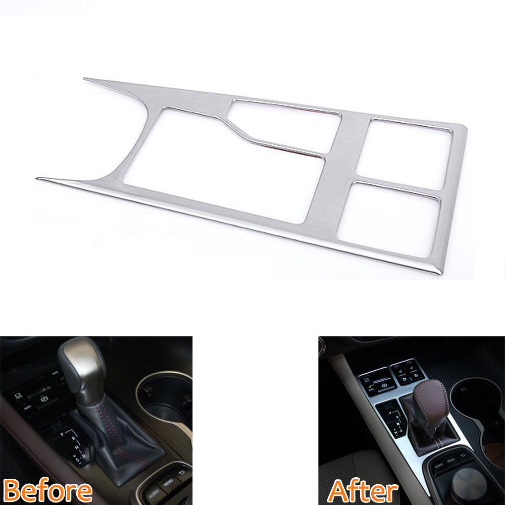 BBQ@FUKA Car-styling Interior Console Gear Panel Frame Trim Cover Sticker Car accessories Fit For Lexus 2016 RX200T RX350 RX450h new arrival for lexus rx200t rx450h 2016 2pcs stainless steel chrome rear window sill decorative trims