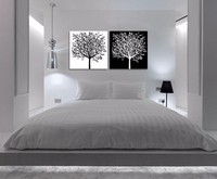 2 piece abstract canvas art simple life tree art white and black wall picture decoration home modern canvas art Prints frameless