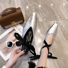 цены на Sweet Square Head Pure Color Flat Bottom Shallow Mouth Ballet Strap-on Single Shoes women shoes Women Slippers Mules Shoes  в интернет-магазинах