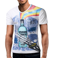Male 2017 Brand Short Sleeve 3D Fun Color Printing T Shirt Slim O-Neck Men T-Shirt Tops Fashion Mens Tee Shirt T Shirts