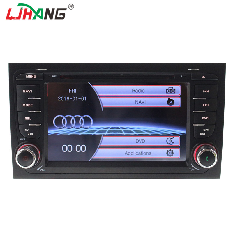 LJHANG 2 Din Car Radio Player For Audi A4 2003 2010 RDS