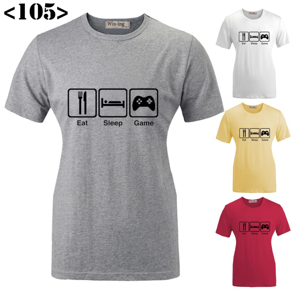 Design t shirt games - Aliexpress Com Buy Best Sell Funny Eat Sleep Game Design Pattern Printed Short Sleeves T Shirt Women S Girl S Graphic Tee Tops T Shirts From Reliable