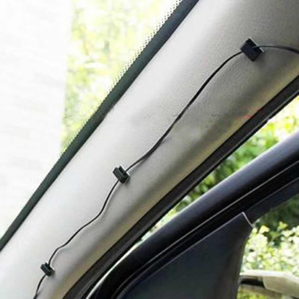 100 pçs/lote gestão de mesa cabo de parede grampos de cabo de carro adesivo clipes cabo liso winder gota fio tie fixer titular
