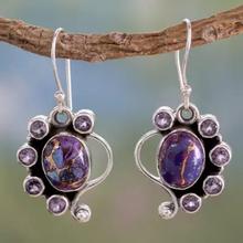 Bohemia Vintage Drop Earrings for Women Boho Jewelry Purple Stone Drop Earrings Ladies Earrings Bijoux Femme Modernos S3M051 cheap ZHIXUN Zinc Alloy TRENDY Fashion Earrings M051 geometric Metal Gold Ssilver