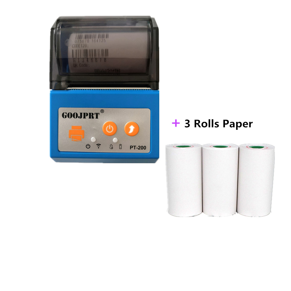 moveable portable thermal travel printers blue rolls paper