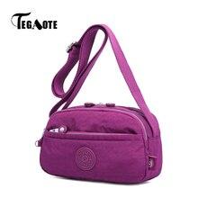 TEGAOTE Small Shoulder Bag for Women Designer Mini Crossbody Messenger Bags Ladies Phone Pouch Bolsa Feminina Nylon Purse Female
