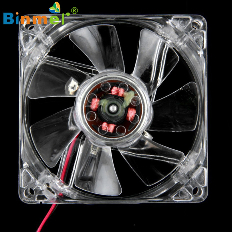 Hot-sale BINMER 80*80mm 4 Pin Gifts Computer Fan Blue Quad 4-LED Light Neon Clear 80mm PC Computer Case Cooling Fan Mod 1112 hot sale binmer 120 x 120 x 25mm 4 pin computer fan red quad 4 led light neon clear 120mm pc computer case cooling fan mod