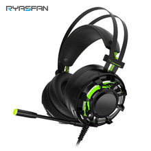 Noise Isolating 7.1 Gaming Headset 3D Vibration sound Earphone with LED Mild Over Ear Handsfree PS4 headphone with Microphone