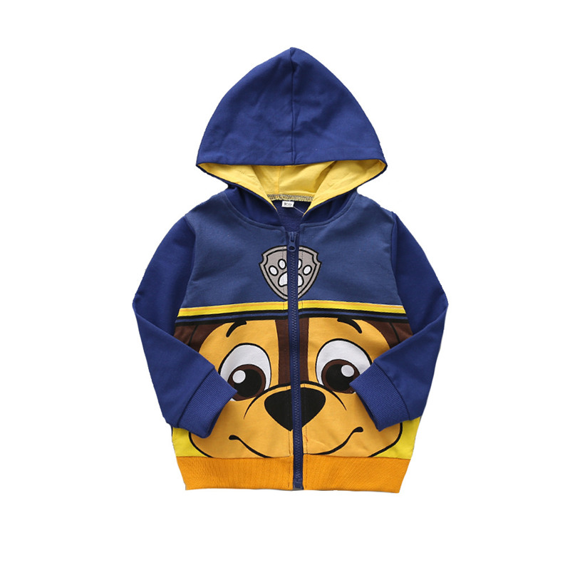 SFC-281 Sengfei New Spring Autumn Outerwear Children Baby Boys Clothes Cartoon Hooded Sweatshirt Coat image