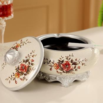 European Ceramic ashtray cover with large living room office windproof ashtray Home Furnishing Hotel decor decoration